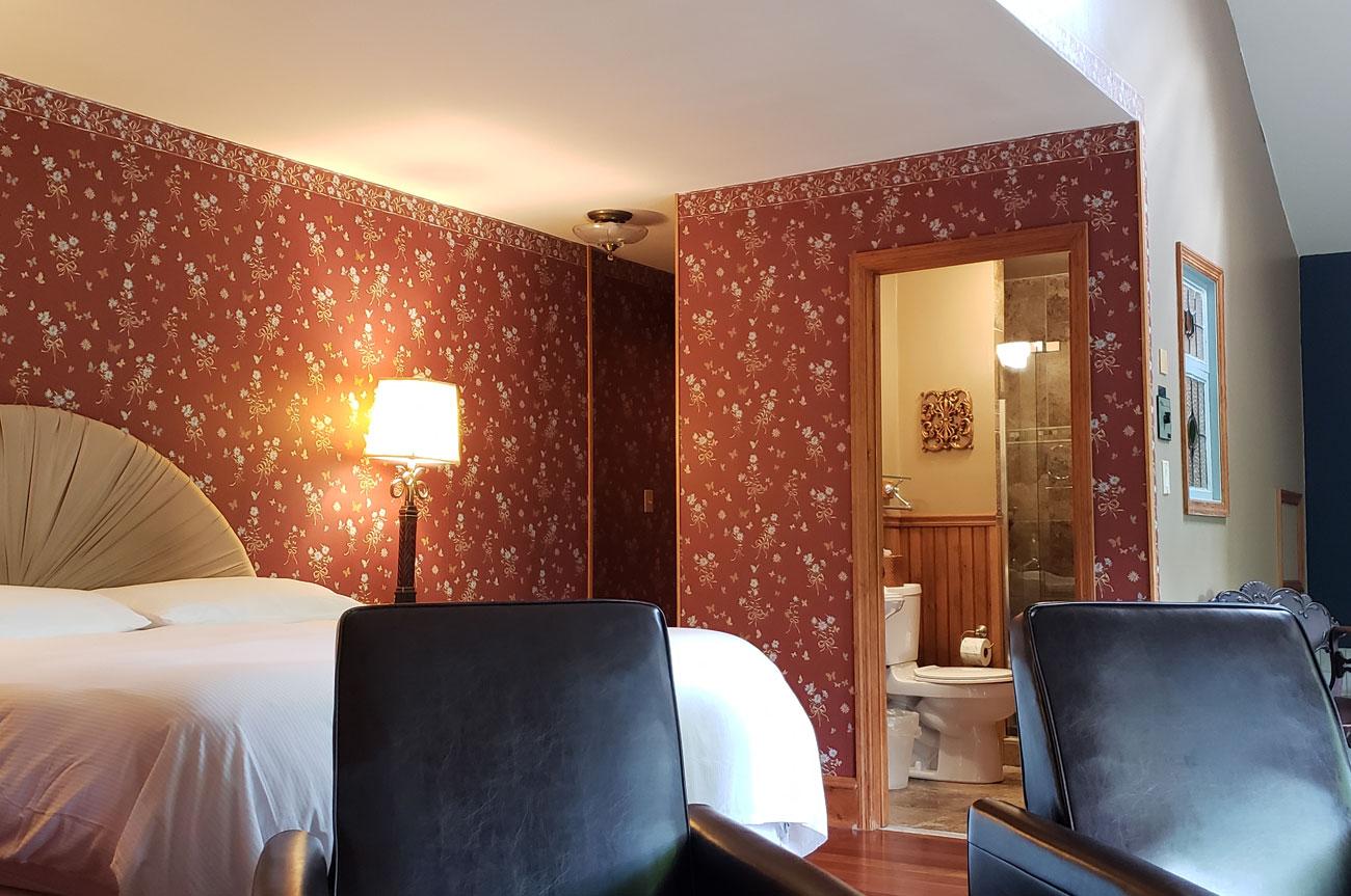 Bathroom View Room 14 | AlbergoAllegriaHotelandbreakfastrestaurant | Windham NY