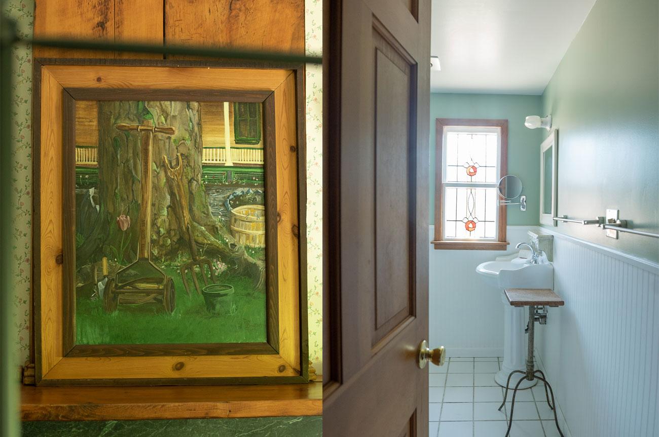 Collage Frame and Bathroom Room 15 | AlbergoAllegriaHotelandbreakfastrestaurant | Windham NY