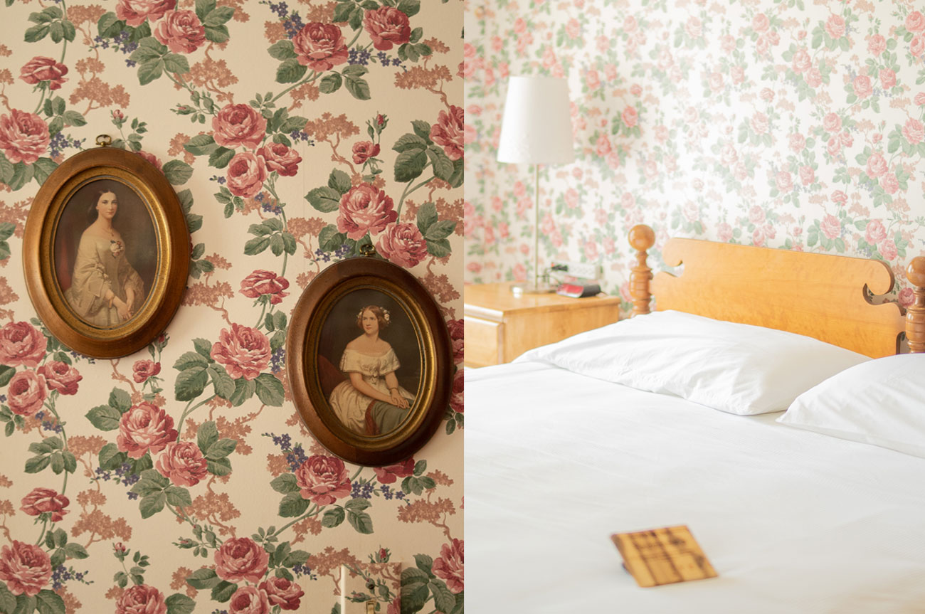 Collage Frames and Bed Room 2 | AlbergoAllegriaHotelandbreakfastrestaurant | Windham NY