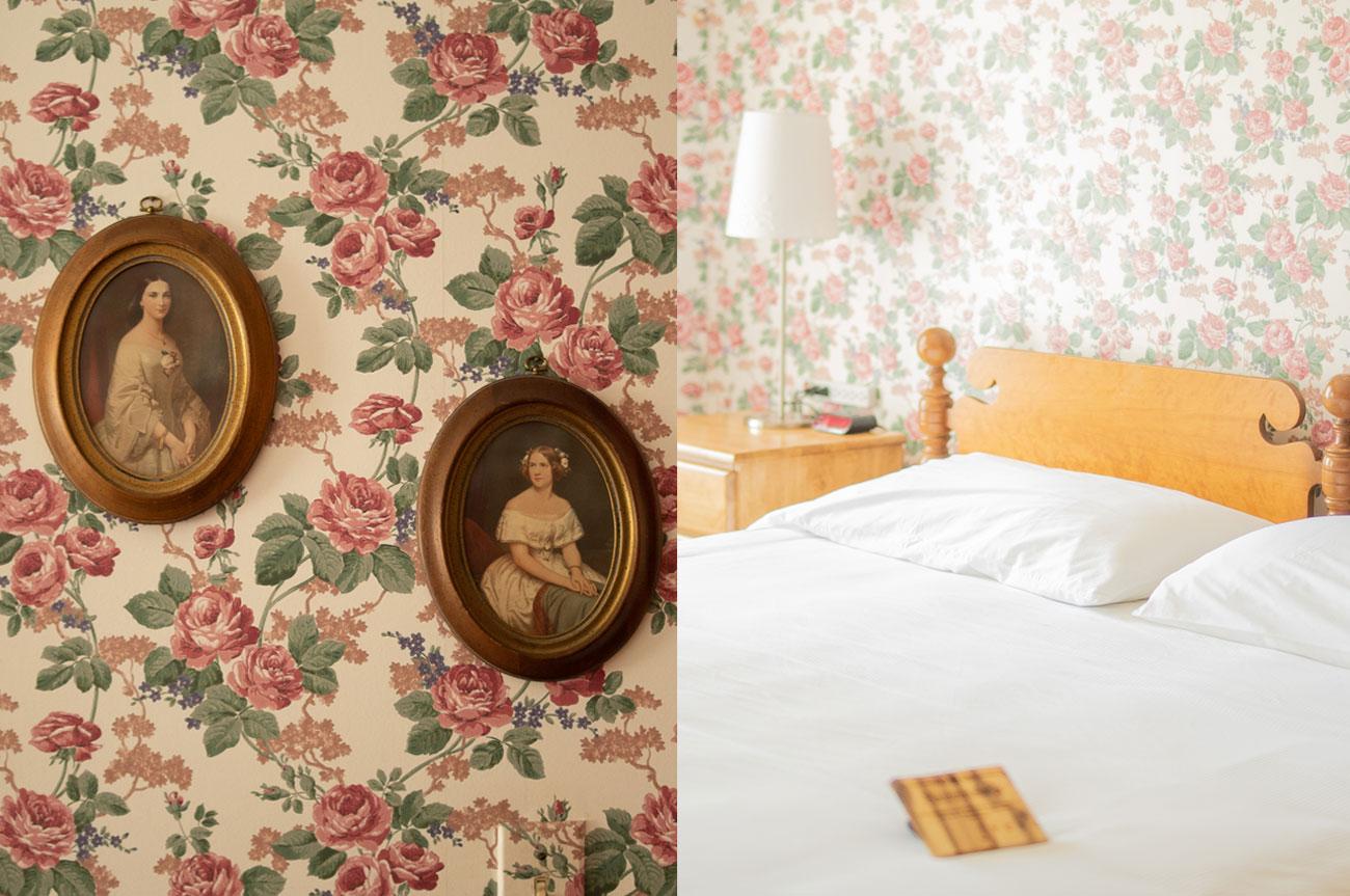 Collage Frames and Bed Room 2 | AlbergoAllegriaHotelandbreakfastrestaurant | Windham NY