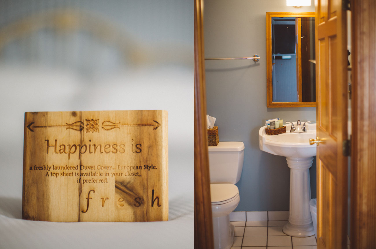 Collage Happiness and Bathroom Room 13 | AlbergoAllegriaHotelandbreakfastrestaurant | Windham NY
