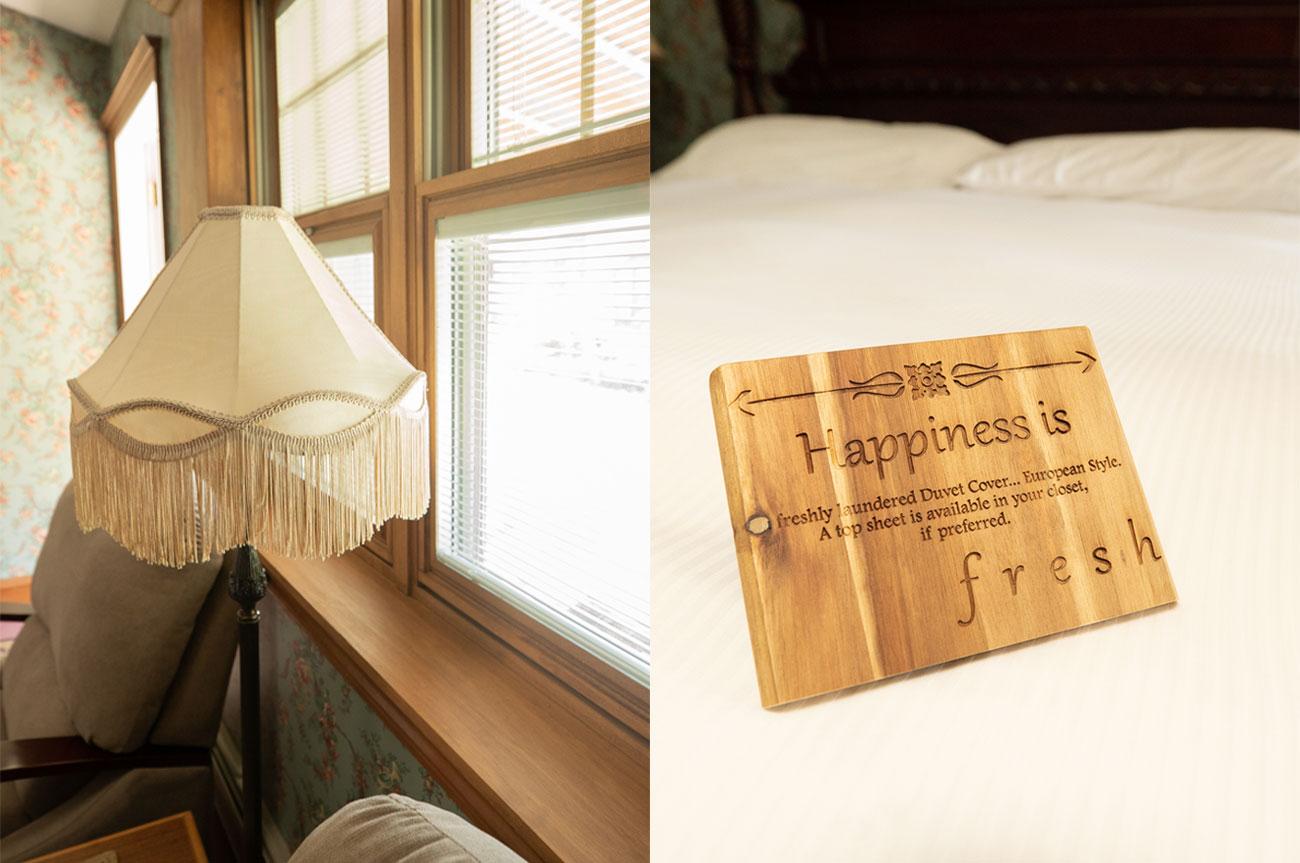 Collage Lamp and Happiness Room 19 | AlbergoAllegriaHotelandbreakfastrestaurant | Windham NY