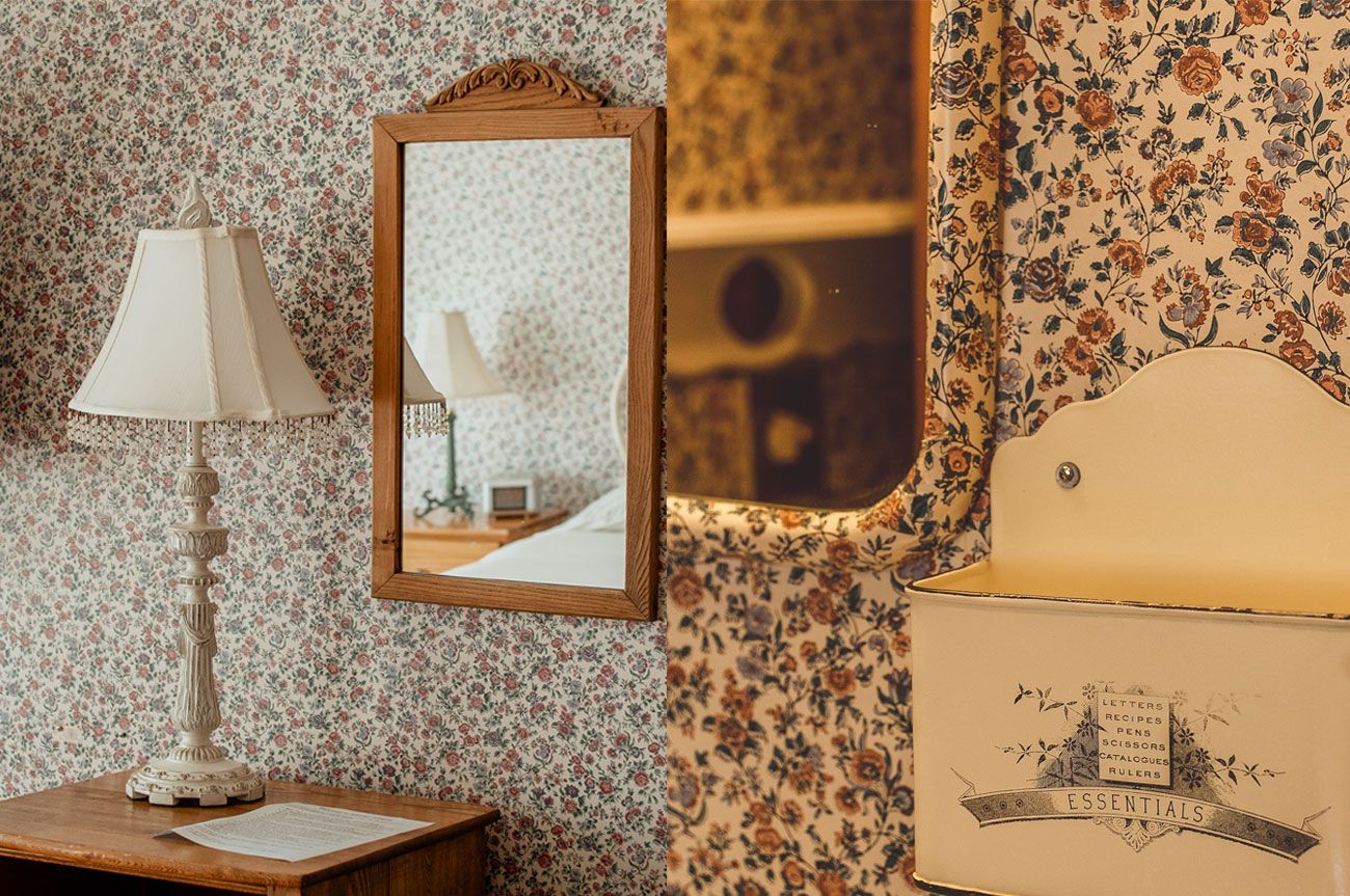 Collage Lamp and Mirror Room 1 | AlbergoAllegriaHotelandbreakfastrestaurant | Windham NY