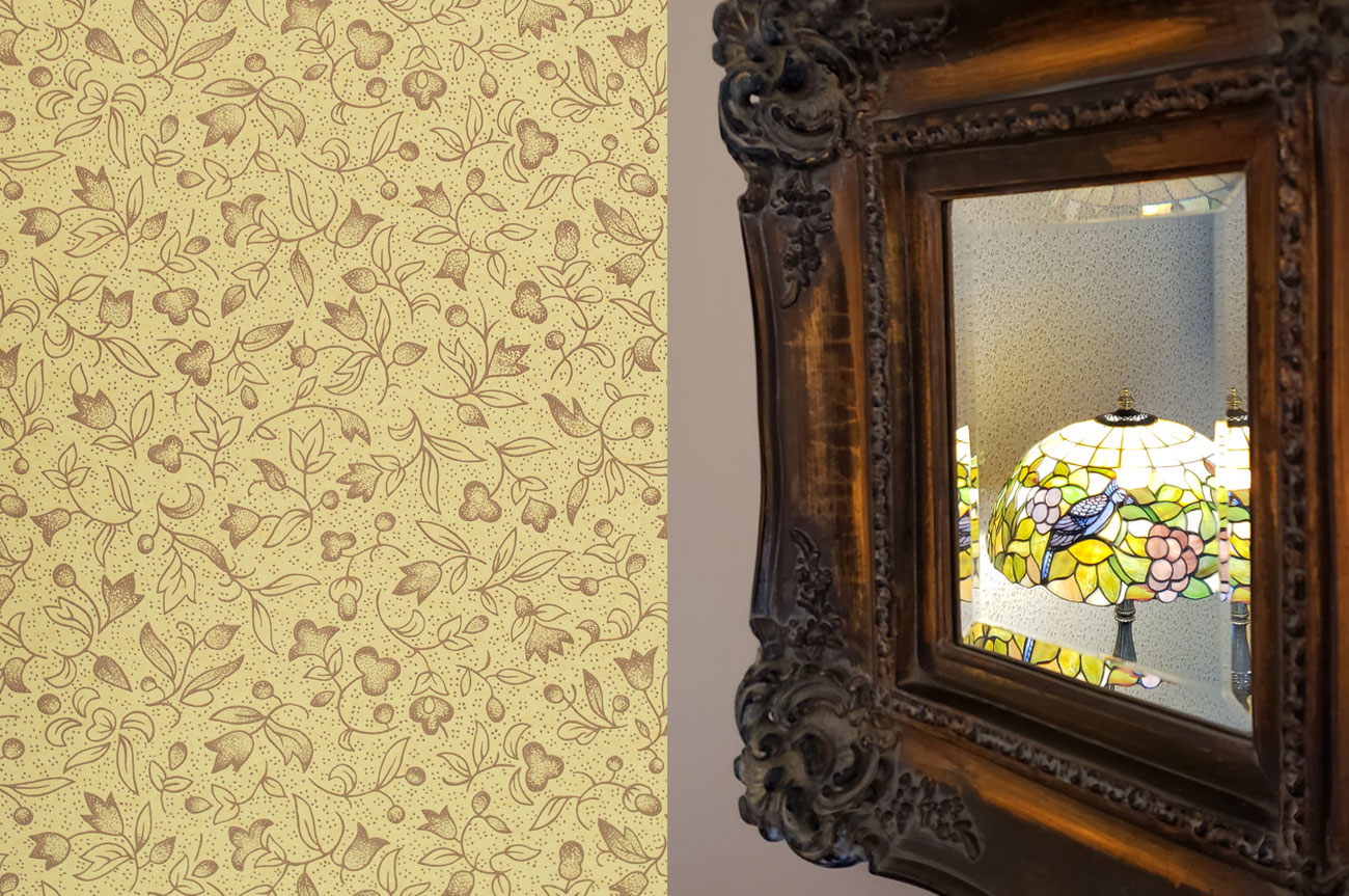 Collage Frame and Pattern Room 6 | AlbergoAllegriaHotelandbreakfastrestaurant | Windham NY