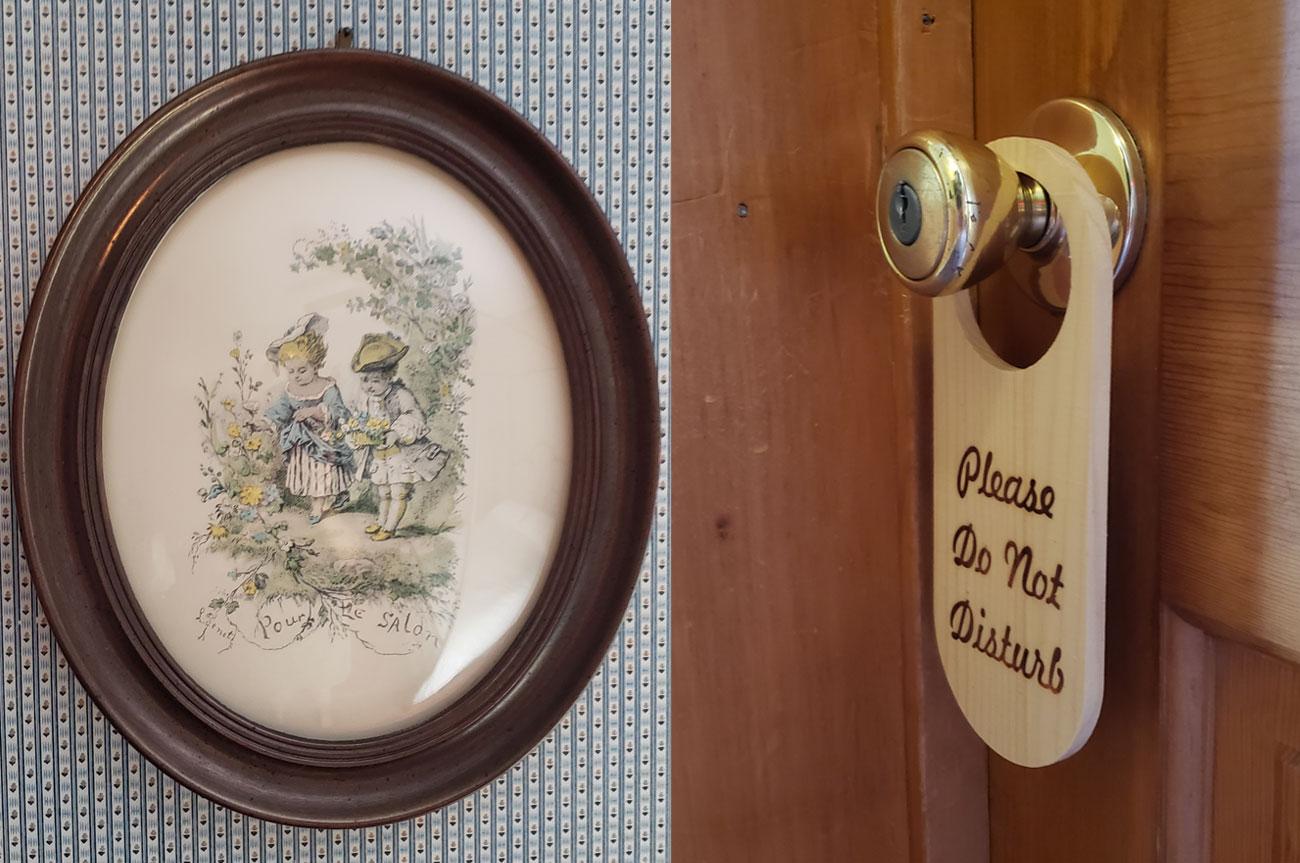 Collage Frame and Room Tag Room 12 | AlbergoAllegriaHotelandbreakfastrestaurant | Windham NY