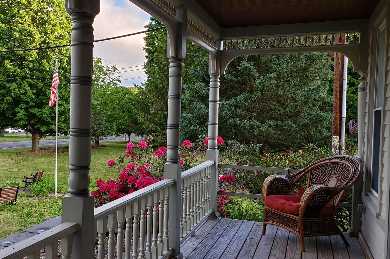 Porch View Room 13 | AlbergoAllegriaHotelandbreakfastrestaurant | Windham NY