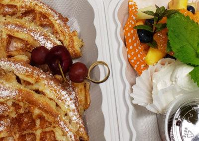 waffles-pantry-serving-img | AlbergoAllegria breakfast restaurant | Catskills, New York