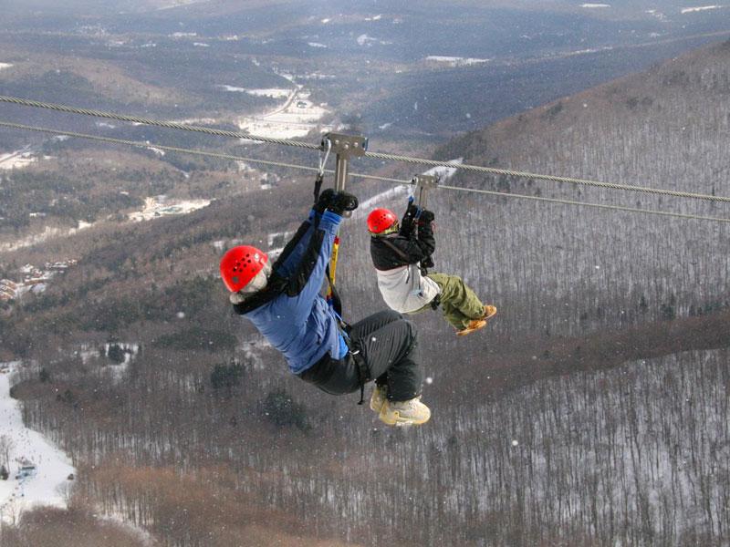 winter-zip-lining-img | AlbergoAllegria Bed & Breakfast | Catskills, NY