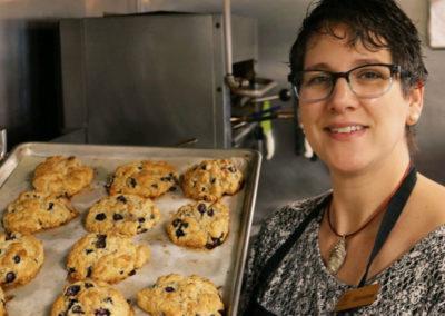 albergoathome-mariana-with-cookies-img | AlbergoAllegria breakfast restaurant | Catskills, New York