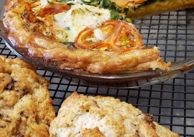 albergoathome-pie-with-muffins-img | AlbergoAllegria breakfast restaurant | Catskills, New York
