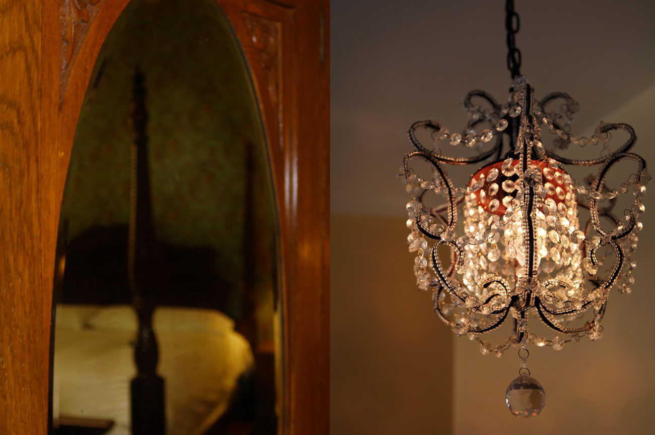 College Mirror and Chandelier Room 19 | AlbergoAllegriaHotelandbreakfastrestaurant | Windham NY