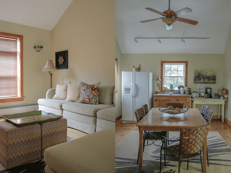 Common Room Living Room and Dining | AlbergoAllegria Bed & Breakfast | Catskills, NY
