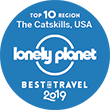 Loneley Planet Badge | AlbergoAllegriaHotel | Windham New York