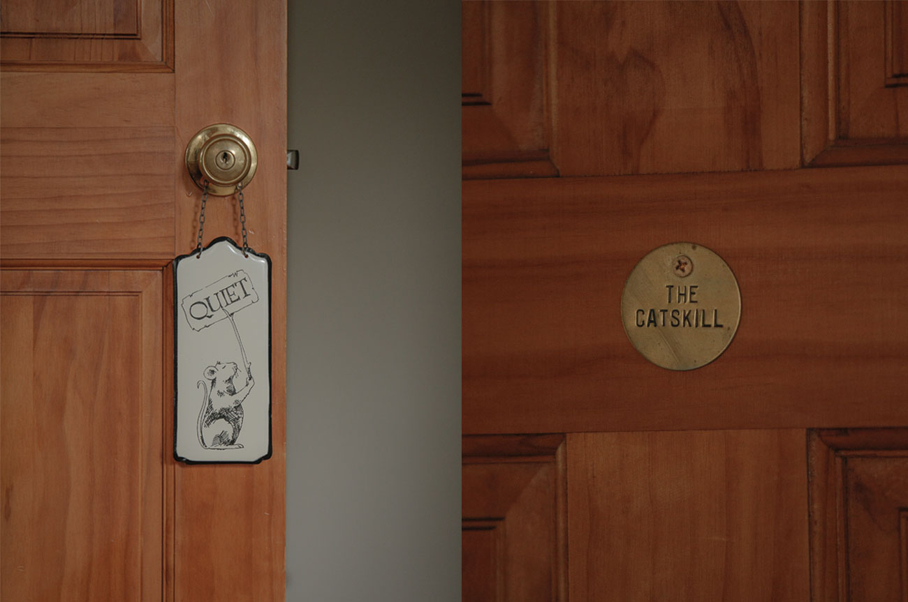 Room Door and Name Catskill Room | AlbergoAllegria Bed & Breakfast | Catskills, NY